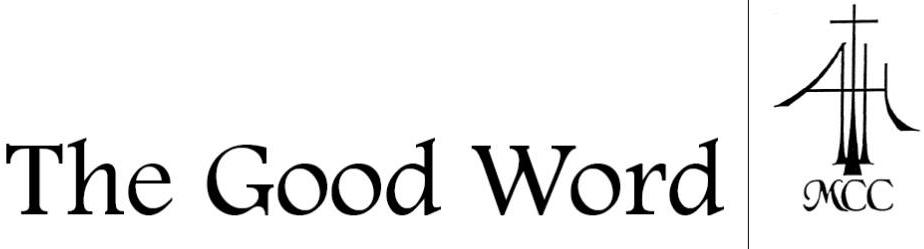 The Good Word-MCC Newsletter